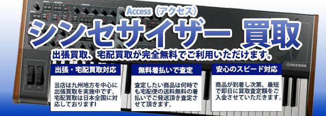 Access(アクセス)シンセサイザー バナー画像
