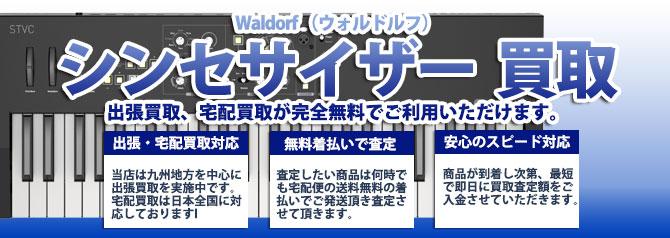 Waldorf (ウォルドルフ)シンセサイザー バナー画像