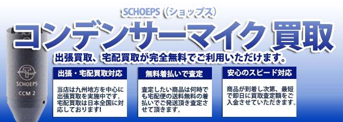 SCHOEPS(ショップス)コンデンサーマイク バナー画像